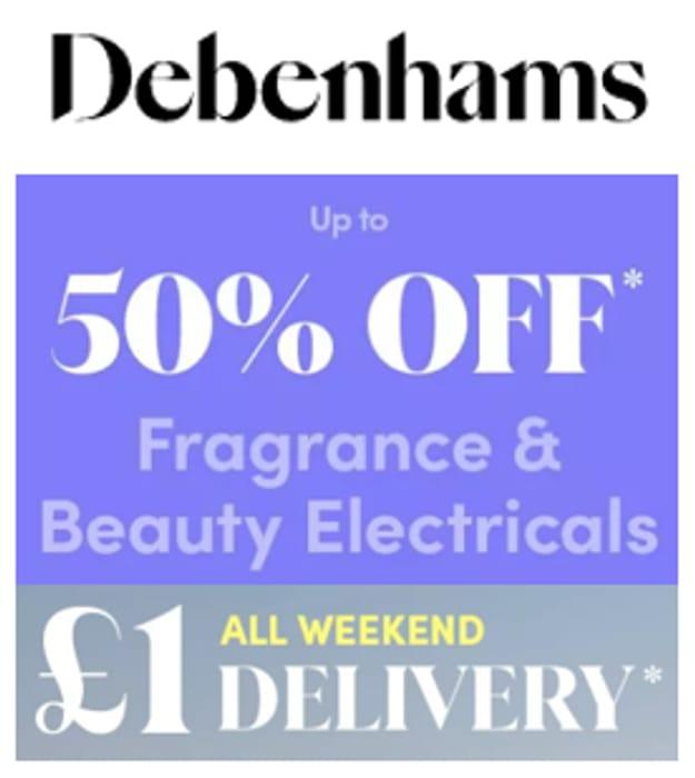 Debenhams Fragrance & Beauty Sale - up to 50% OFF