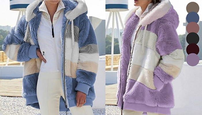 Faux Fur Hoodie - 7 Colours & 4 Sizes
