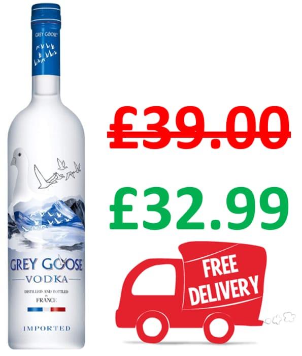 SAVE £6 - Grey Goose Original Vodka, 70cl **4.9 STARS** + FREE DELIVERY