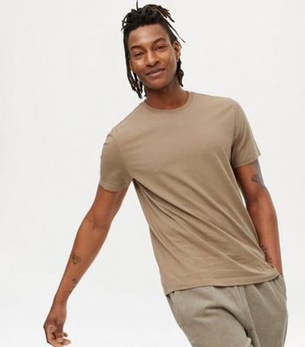 Light Brown Regular Fit Crew T-Shirt