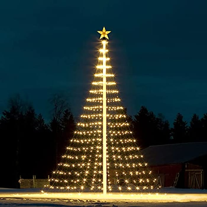 178 LED Christmas Christmas Tree Lights with Topper Star - Only £14.99!