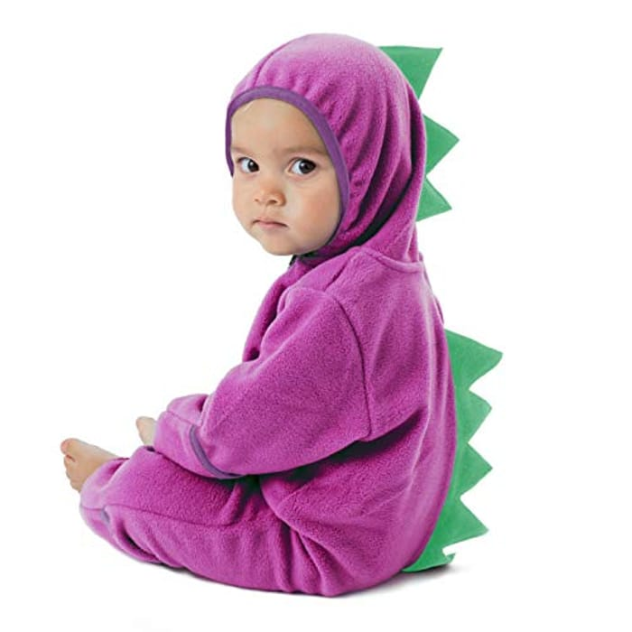 Cuddle Club Fleece Baby Romper Jumpsuit, Dino with £15 off Coupon