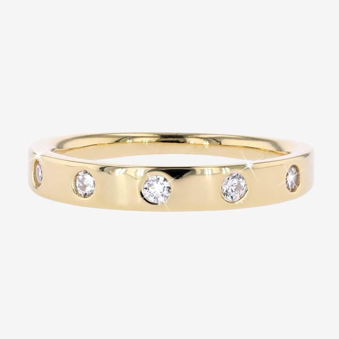 18ct Gold Vermeil on Silver Band Ring