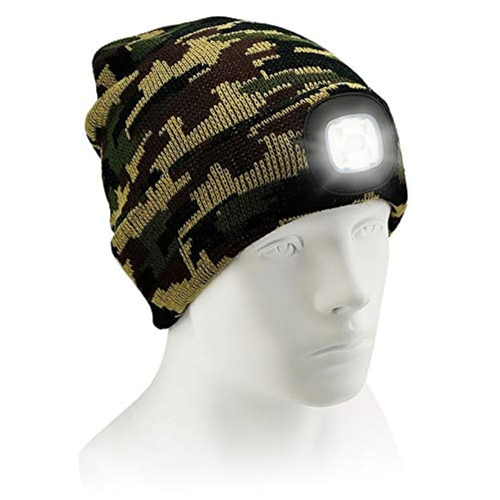 DEAL STACK - USB Rechargeable Beanie Hat with Light + £3 Coupon