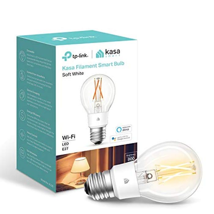 Kasa Smart Bulb by TP-Link, WiFi Filament Light Bulb - Only £6.99!