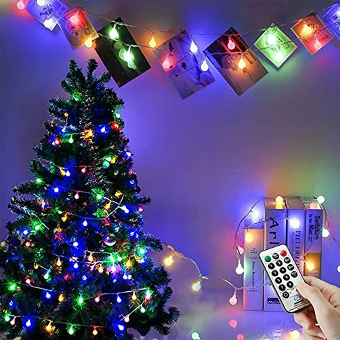 120 LEDs Globe String Lights with £10 off Coupon