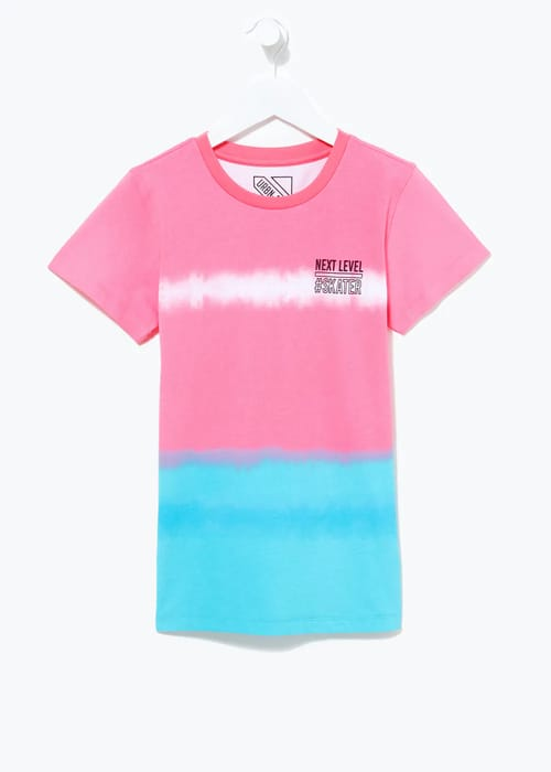 Boys Skater Slogan Tie-Dye T-Shirt