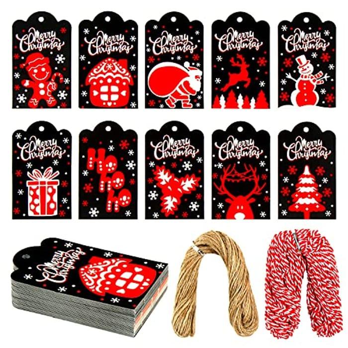 VEYLIN 100pcs Christmas Gift Tags