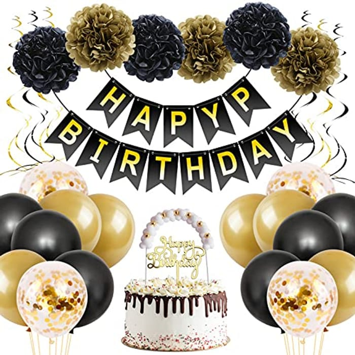 Unisun 31pcs Birthday Party Decorations Kit