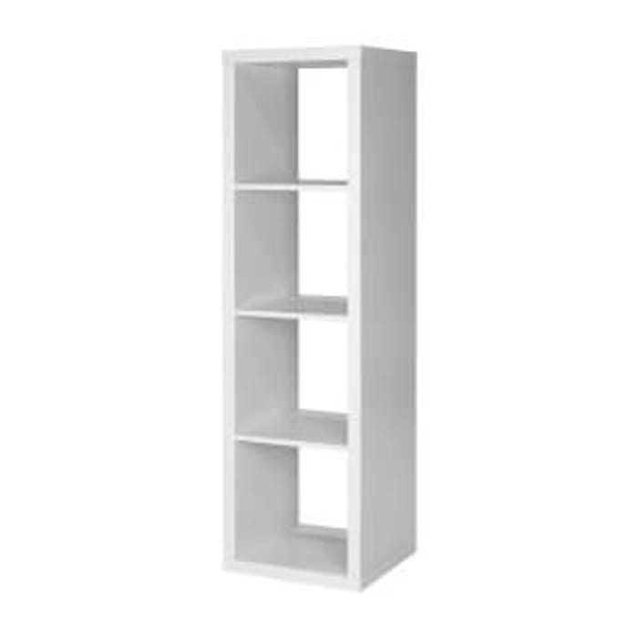 Clever Cube 4x1 Storage Unit - White, Free C&C