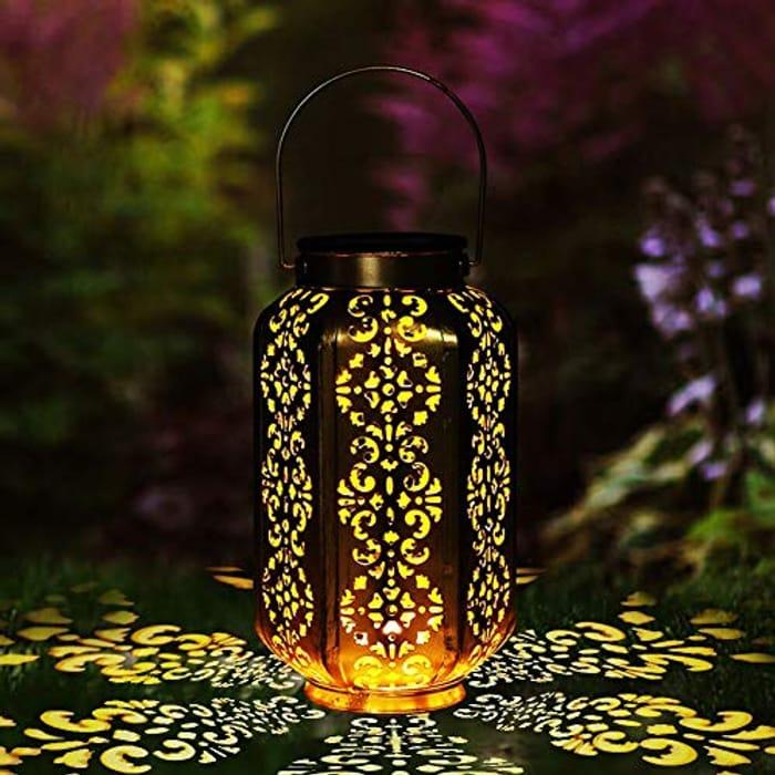 LOOHAOC Outdoor Solar Lantern