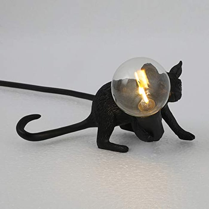 Domeilleur Rat Mouse Table Lamp Nordic Creative with £10 off Coupon