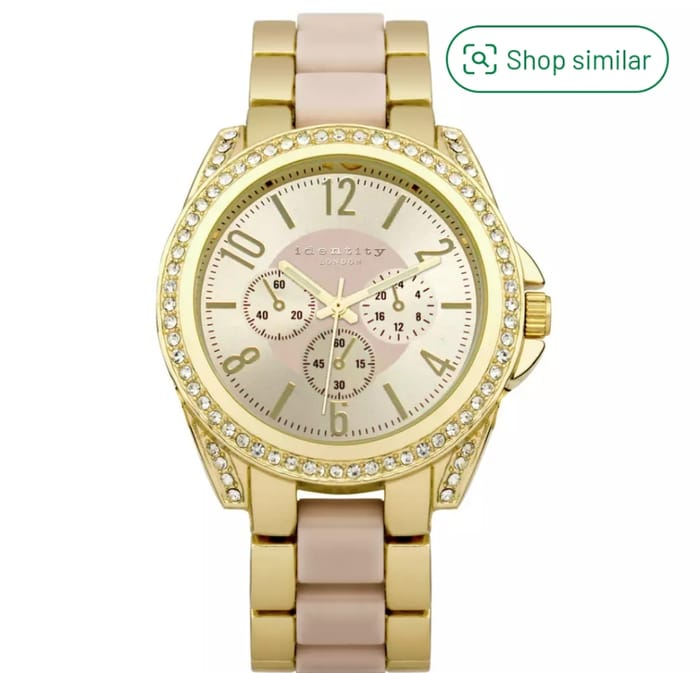 Identity Ladies Gold Bracelet Strap Watch