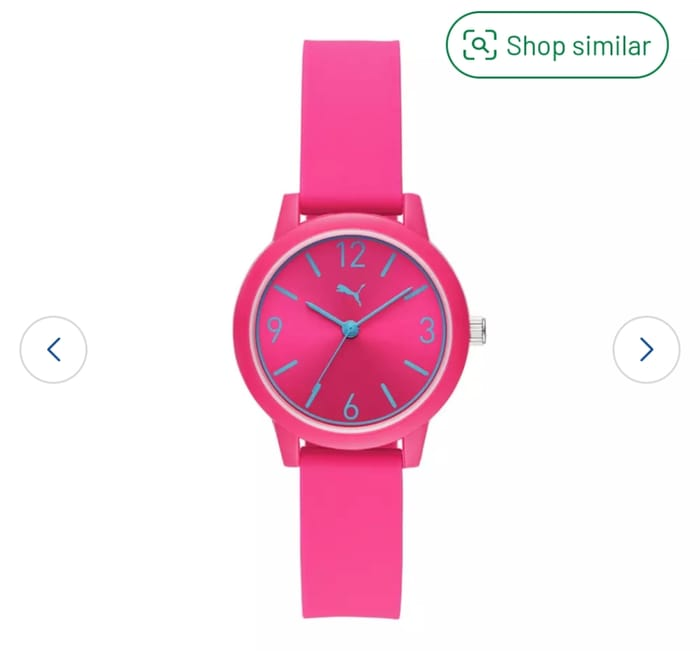 Puma Ladies and Men Silicone Strap Watch