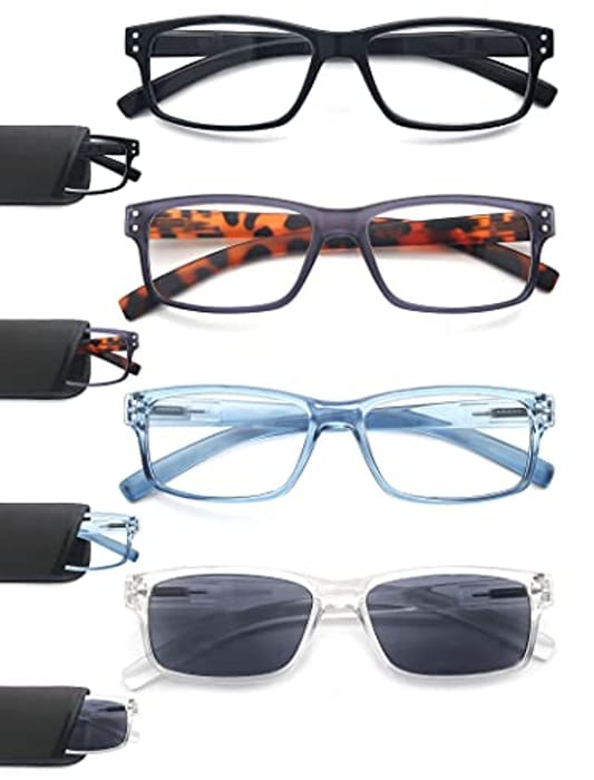 HEEYYOK 4 Pairs Mens Reading Glasses - Only £9.95!