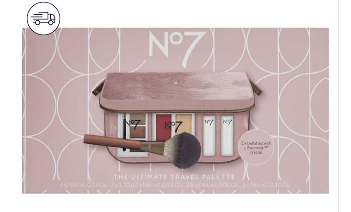 No7 Swarovski the Ultimate Travel Palette 3 Sets for £22.50 Worth £45