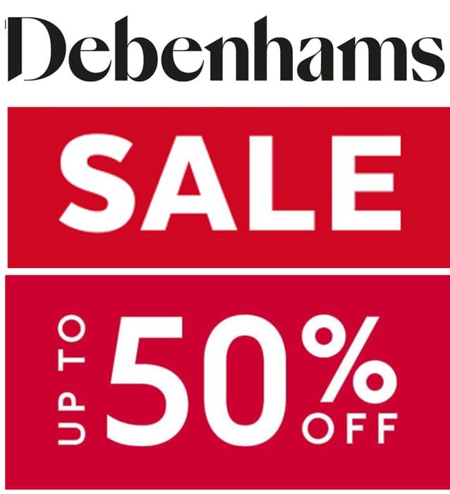 Debenhams - Up To 50% Off Women's, Men's, Kids & Home Sale + £1.99 Delivery