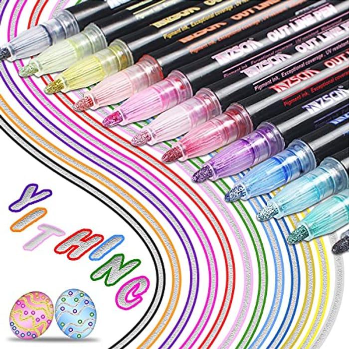 LIGHTNING DEAL - Newest Outline Pens