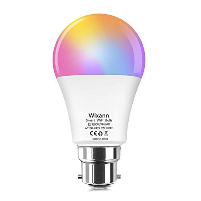 Wixann WiFi Smart Light Bulb - Only £6.49!