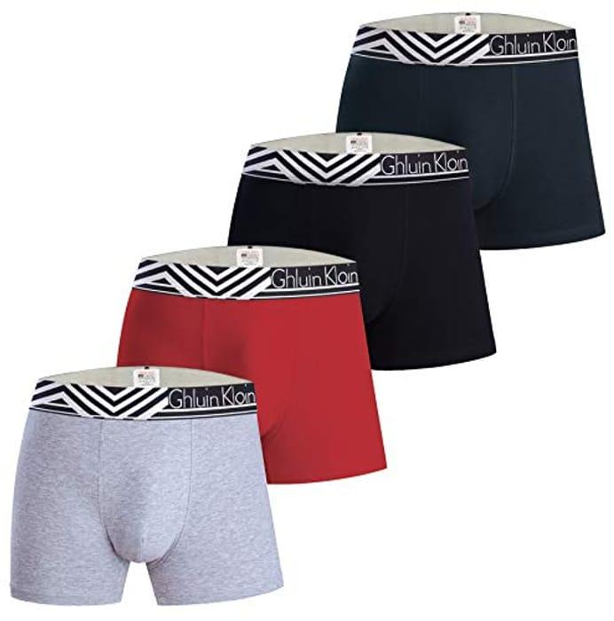 Mens Boxer Briefs Underwear with Premium Cotton - Only £7.00!
