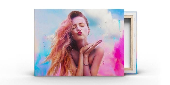 30cm X 20cm Personalised Canvas - Just £5 Delivered With Code!