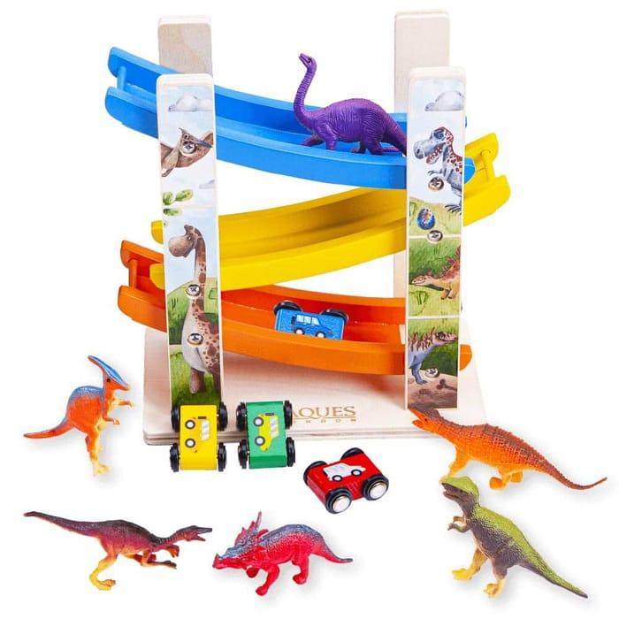 Wooden Dinosaur Toy - Dinosaur Carpark