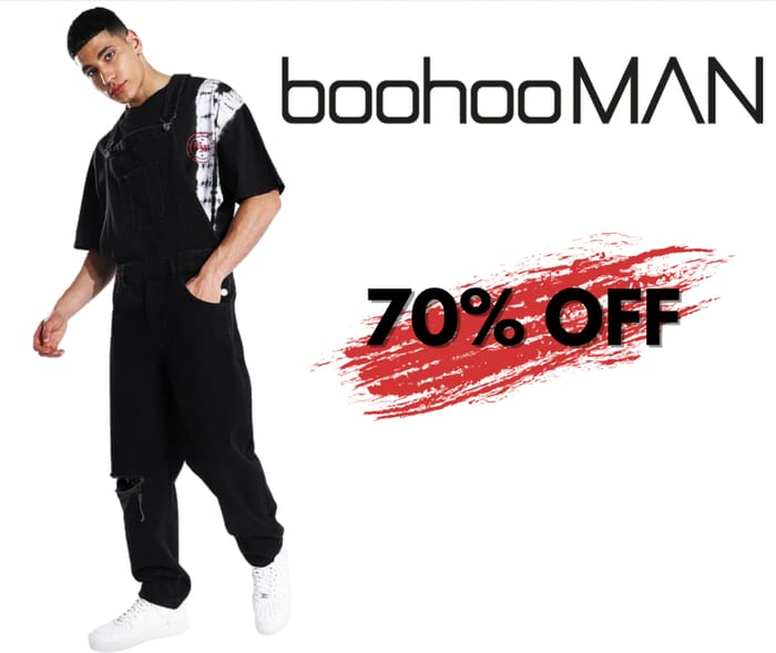 Up to 70% off at boohooMAN! Plus App Exclusive Offer & Free NDD