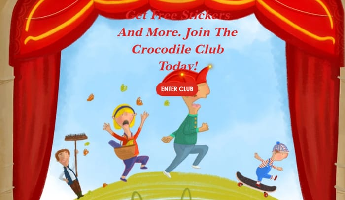Free Stickers & More For Joining The Kids Punch & Judy Crocodile Club