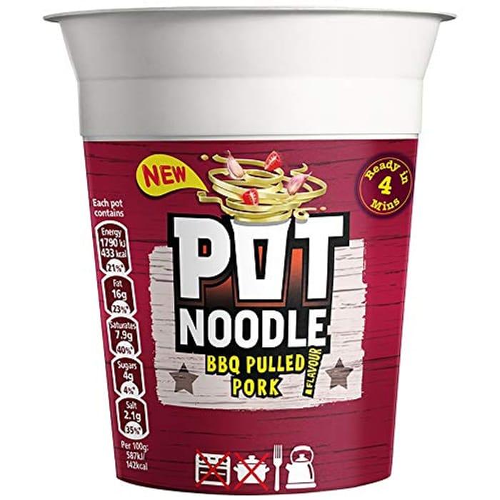 Pot Noodle BBQ Pulled Pork Standard Noodle, 90g
