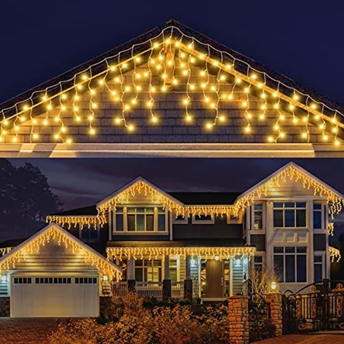 Icicle Outdoor 240 LEDs Christmas Fairy Lights - Only £9.89!