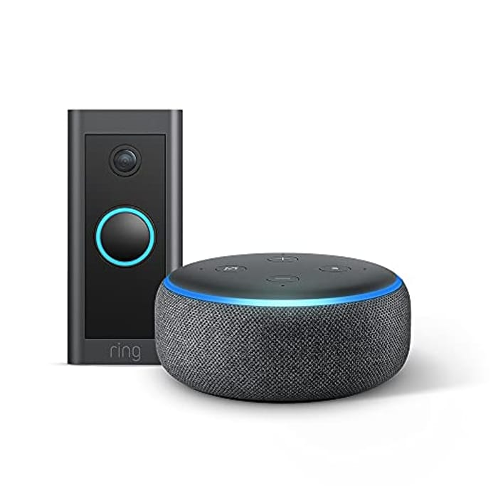 Cheap Ring Video Doorbell Wired by Amazon + Echo Dot (3rd Gen) - Only £44!