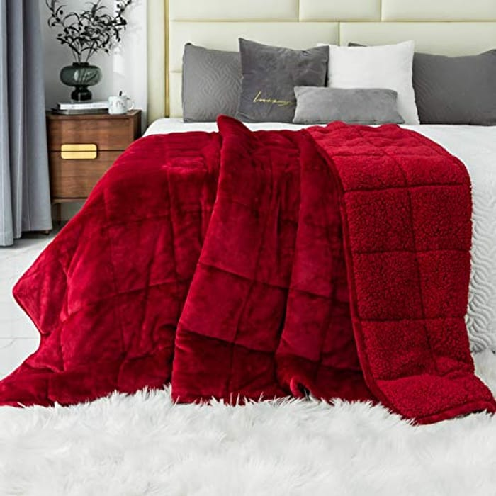 Immtree Sherpa Fluffy Weighted Blanket - Only £30.49!