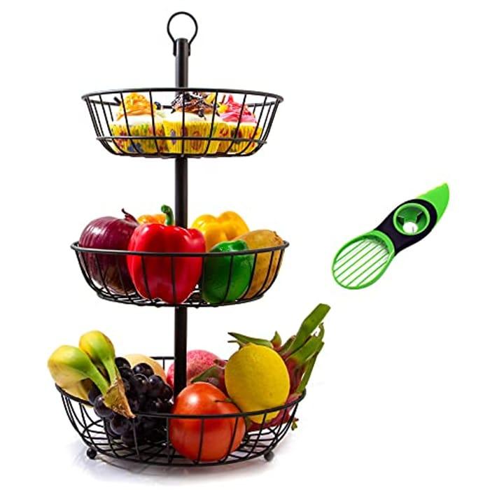 3 Tier Fruit Basket - Only £11.49!