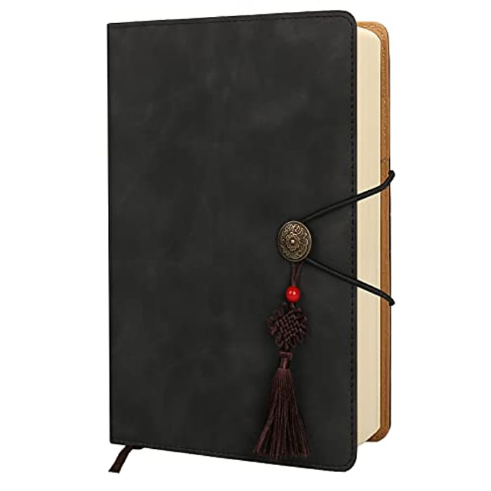 A5 PU Leather Hardcover Lined Journal - 256 Pages