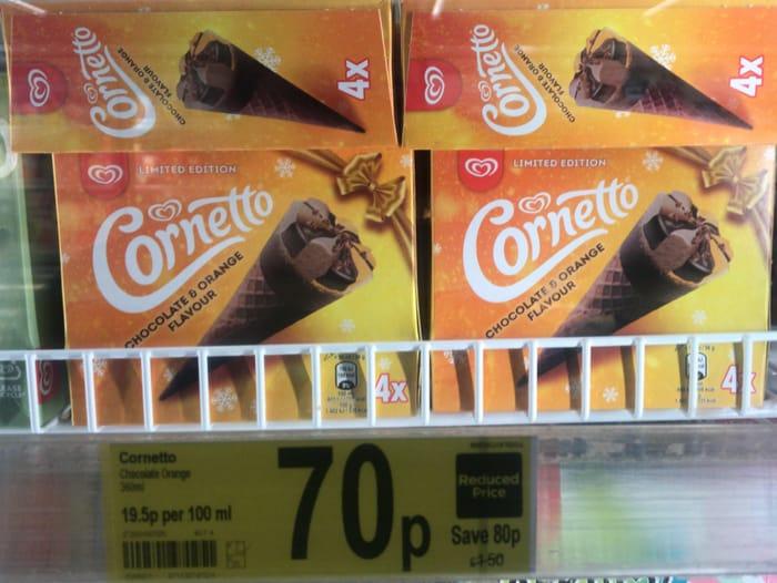 Limited Edition Chocolate Orange Cornetto's - 4 Pack