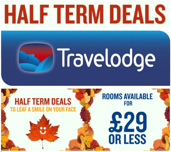 Travelodge - Half Term Deals - ROOMS FROM £29, OR LESS!