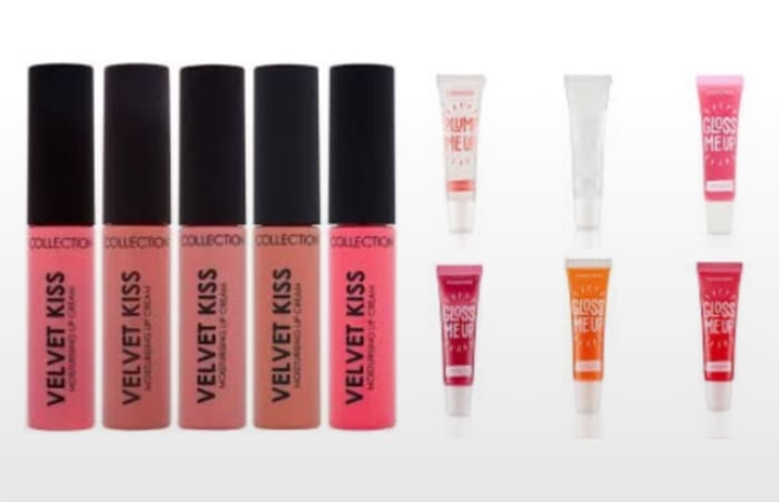Collection Lip Gloss,Cream,Lipstick £1.55 Was £2.99 & Lip Liner £1.45 2 Day Only