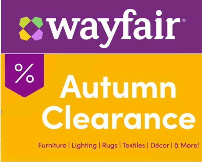 Wayfair AUTUMN CLEARANCE SALE - Furniture, Rugs, Lighting & More!
