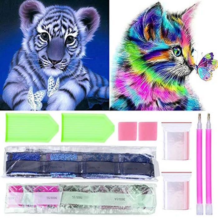 2 Pack 5D Diamond Painting Kits