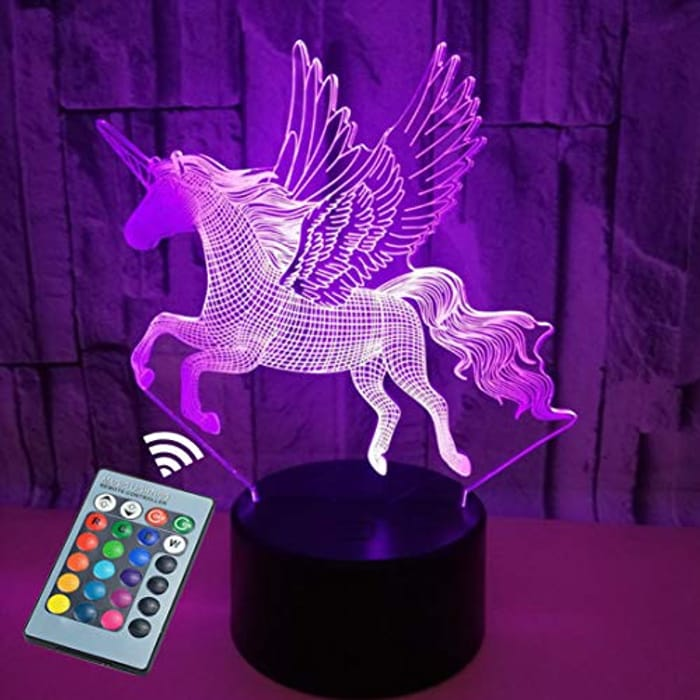 Colour Changing 3D Light with Remote - USB/Battery Operated (Various Options)
