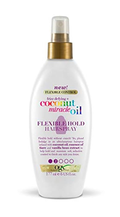 OGX Coconut Miracle Oil Flexible Hold Hairspray, 177 Ml - Only £3.00!