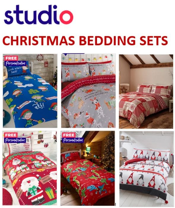 STUDIO - Christmas Bedding - From Only £8.99!