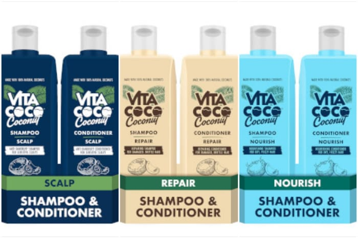 Vitacoco Coconut Haircare Combo Packs for £9.99 & Delivered Free with Code