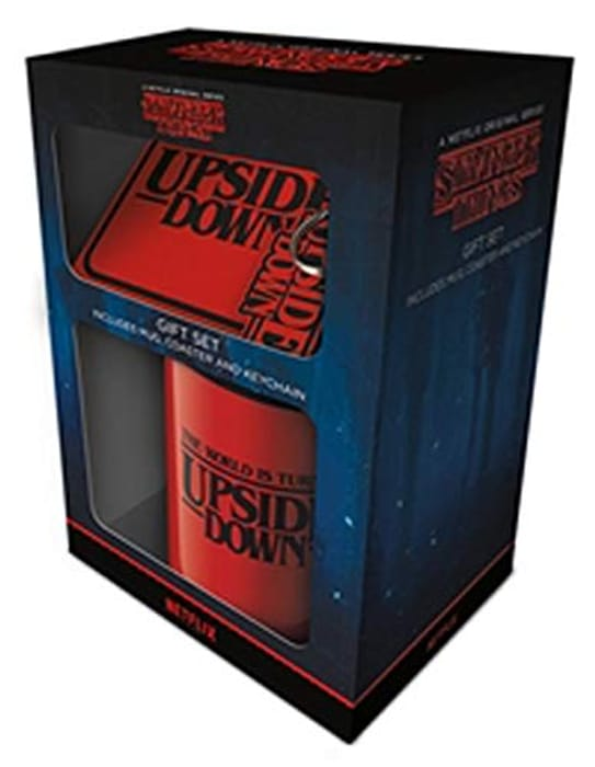 Stranger Things Gift Set - Ceramic Mug, Keyring and Coaster Official Merchandise