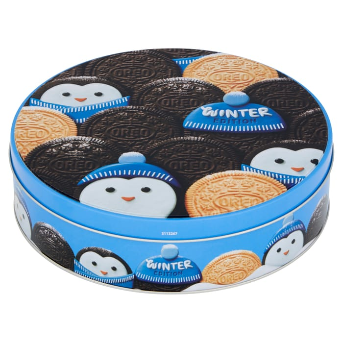 Oreo Assortment Biscuit Christmas Tin 396g Only £3.99