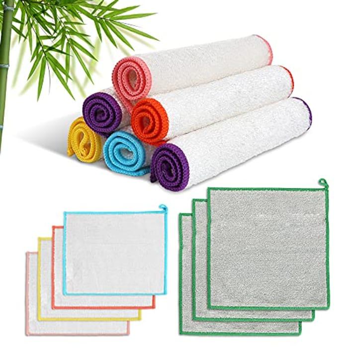 Aone 13pcs Lint Free Bamboo Fibre Cleaning Cloths