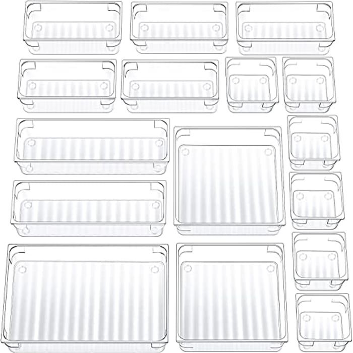 16pcs Drawer Organisers - 5 Sizes