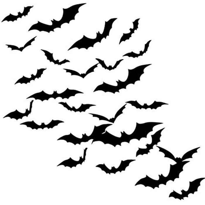 36 Pack Halloween 3D Bat Stickers