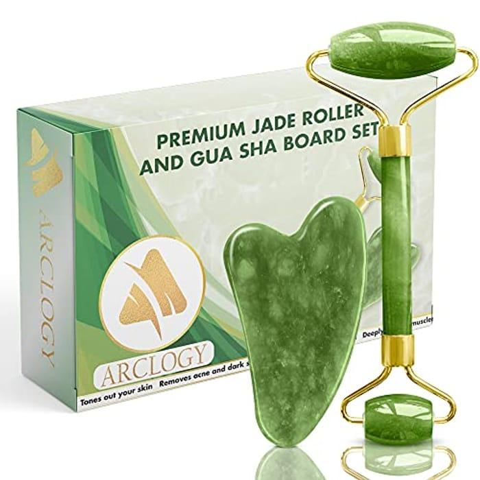 Jade Roller and Gua Sha Scraper
