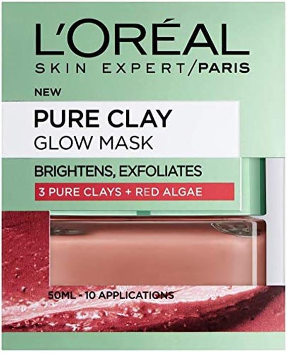 Skin Expert LOreal Paris Face Mask Pure Clay Glow, 50 Ml